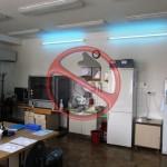 Germicidní lampa laboratoř